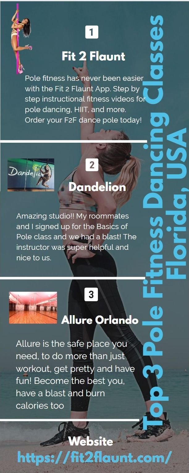 Top 3 Pole Fitness Dancing Classes In Florida Usa Workout Apps Pole Dance Workout Pole Dancing