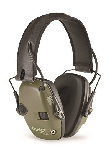 Howard Leight by Honeywell Impact Sport Sound Amplification Electronic Shooting Earmuff Classic Green (R-01526)