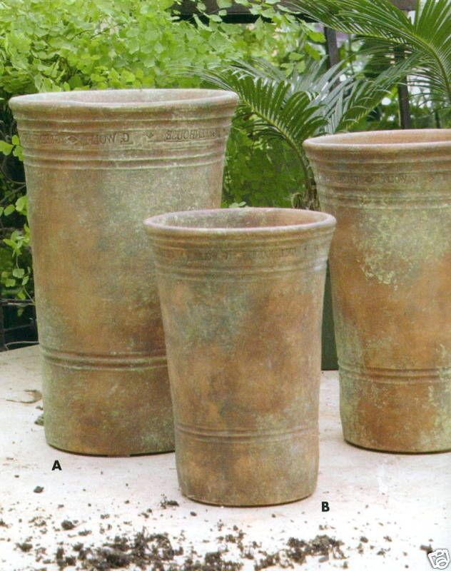 guy wolff large long tom greenhouse clay garden pots pots guy tom pots