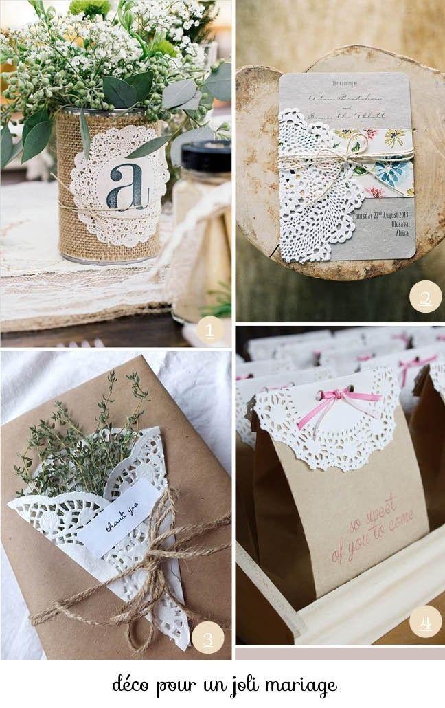 Carterie et petits cadeaux avec des napperons de papier.                                                                                                                                                                                 Plus