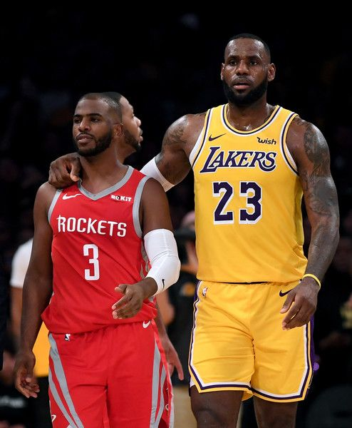Lebron James Photos Lebron James 23 Of The Los Angeles Lakers Escorts Chris Paul