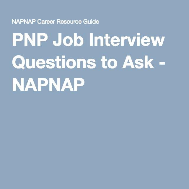 PNP Job Interview Questions to Ask - NAPNAP