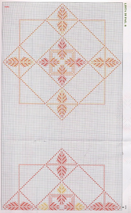 Swedish huck weaving pattern