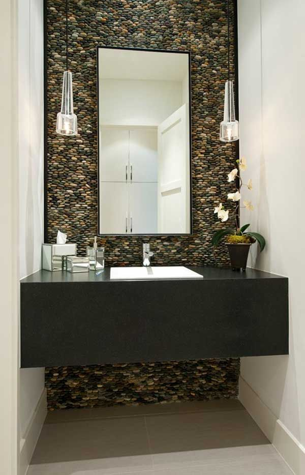 How To Use River Rock Tile In Bathroom Design And Style: 19 Excellent  Suggestions