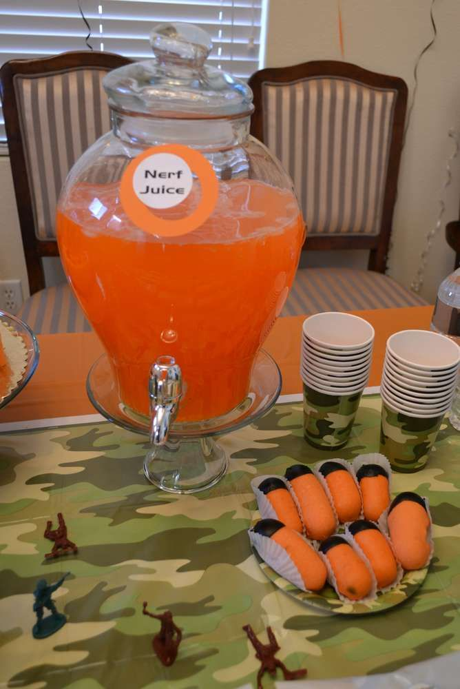 Nerf Wars Birthday Party Ideas | Photo 10 of 26 | Catch My Party