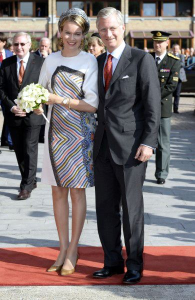 Posted on September 24, 2013 by HatQueen.....King Philippe and Queen Mathilde of Belgium continued their inauguration tour across Belgium with a visit to the province of Hasselt today.