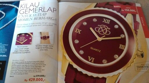 Jam tangan made with SWAROVSKI ELEMENT. Julie 081934333247