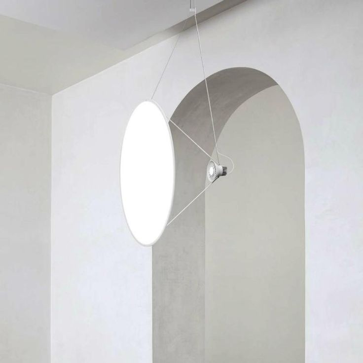 Designed by Daniel RybakkenMaterials: Aluminum body structure, plastic shader Made in Italy The Amisol project is about making a pendant light that occupies a l