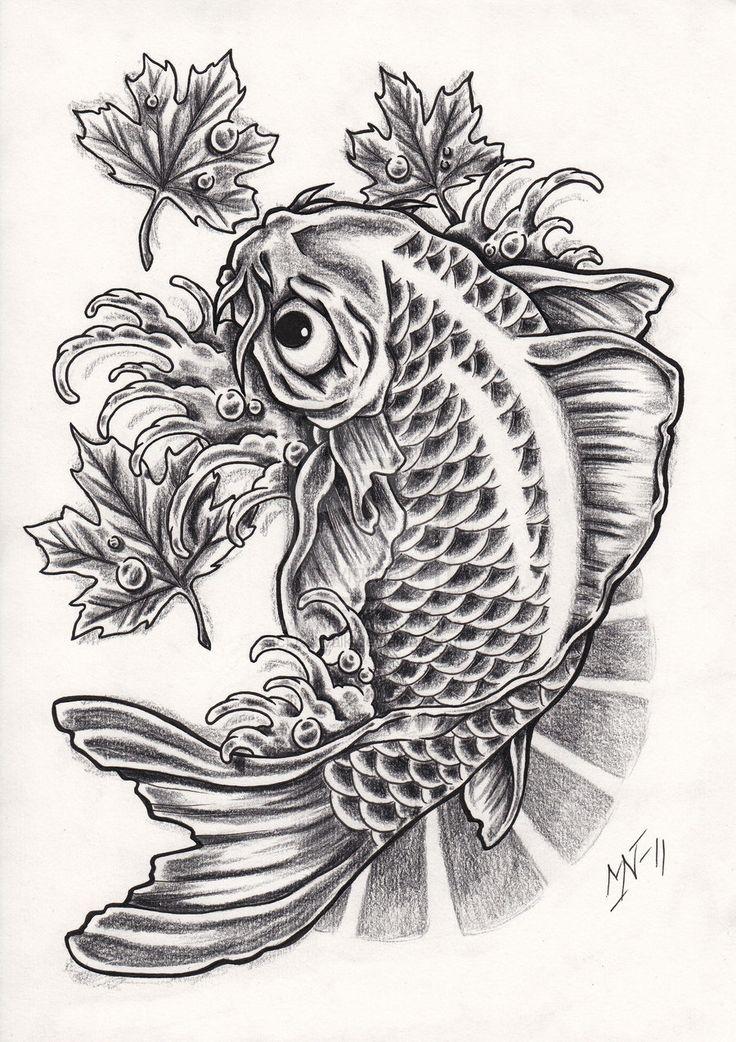 Koi fish tattoo design by Kattvalk.deviantart.com on @deviantART