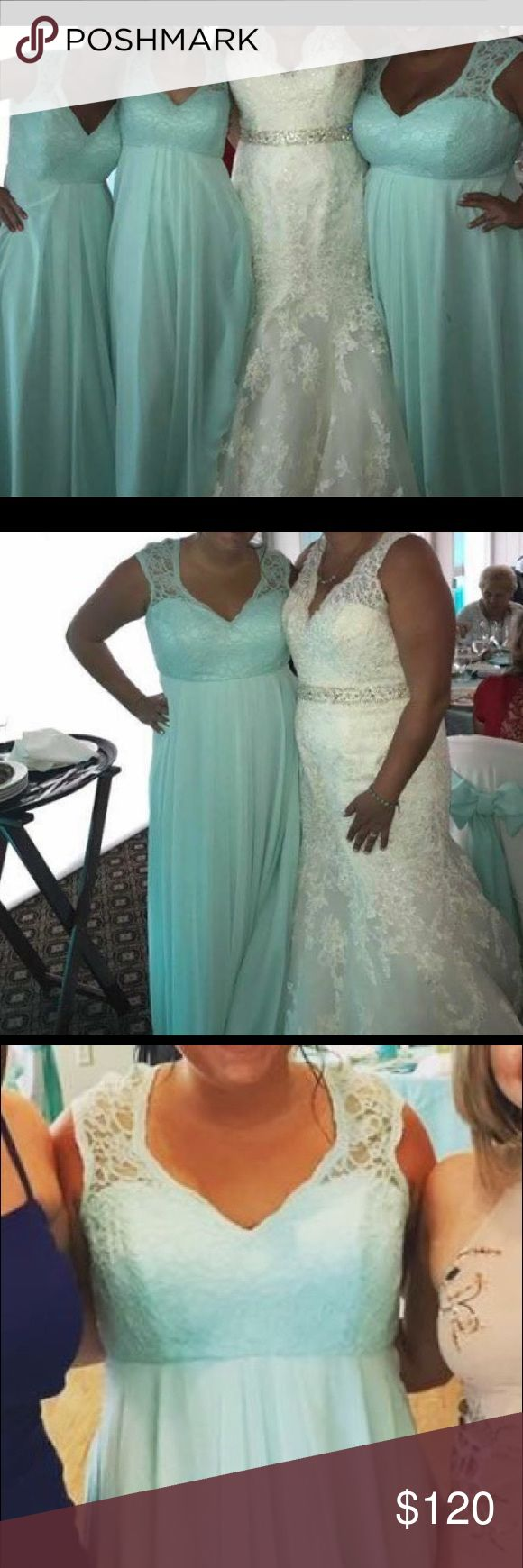 Miri Lee bridesmaid dress Mori Lee bridesmaid dress, Tiffany blue, size 18 (however my street size is a 10.)  will take best offer Mori Lee Dresses Prom
