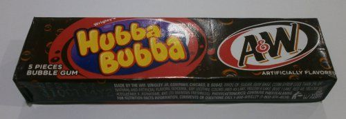 Hubba Bubba A&W Root Beer - 5 Piece Chewing Gum Pack Wrigley http://www.amazon.co.uk/dp/B00I05S4A0/ref=cm_sw_r_pi_dp_vxG6ub0HAMW2N