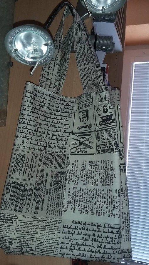 ..DADA / nákupná taška - noviny víno - veľkosť S