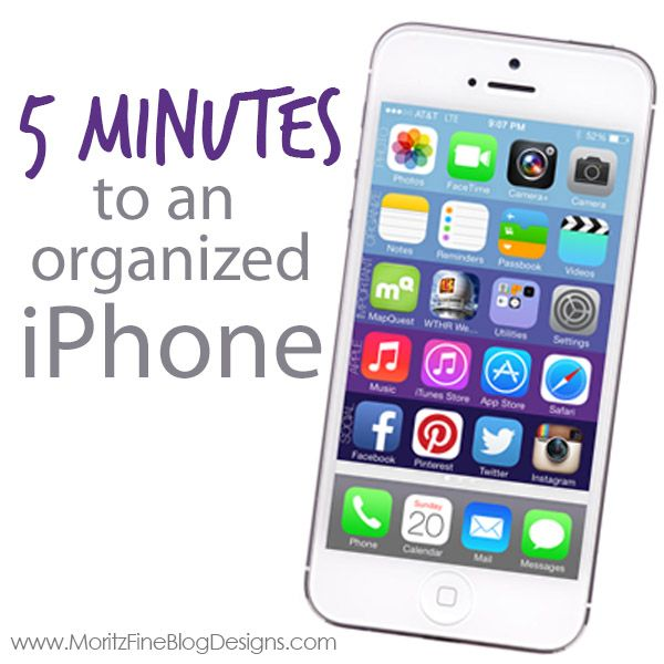 iPhone Organization in 5 Minutes from Mortitz Fine Blog Designs
