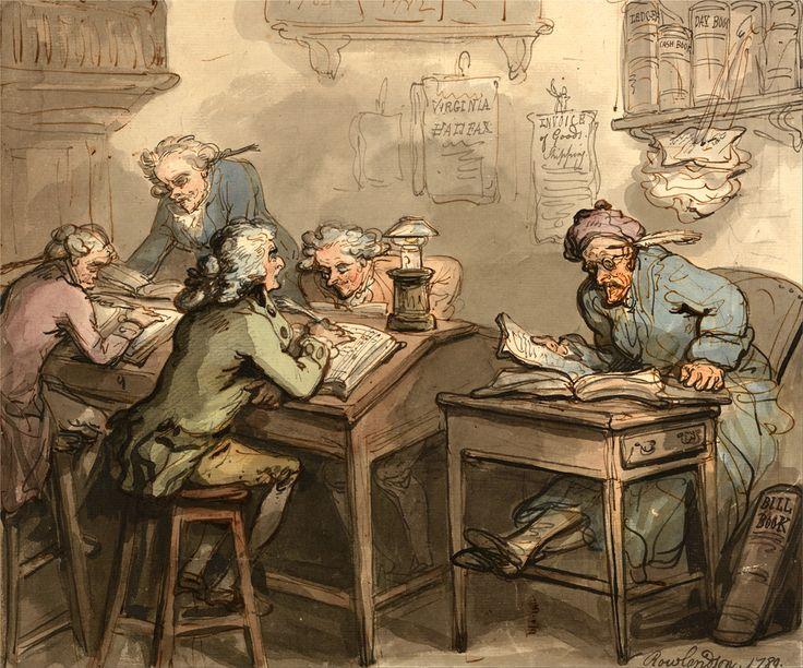 Thomas Rowlandson A Merchant S Office 1760 1820