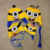 Minion Hat (Beanie and Earflap) Pattern - via @Craftsy
