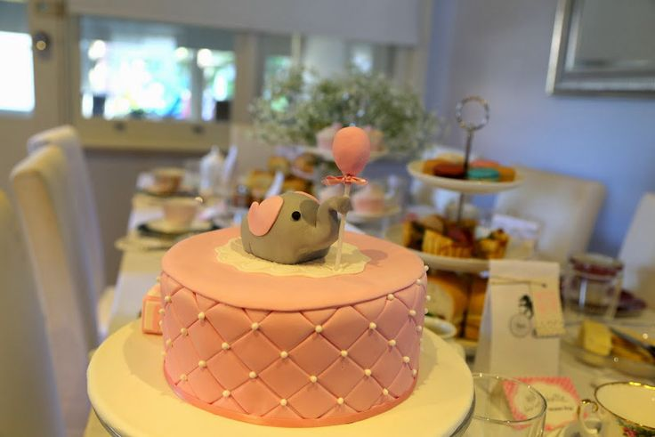 Beautiful Baby Girl Elephant Cake