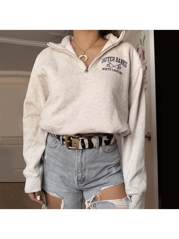 Shop Women's Fashion Letter Sweatshirt RY53 online with high quality and  hurry to get fashion on idoii.com quic… in 2020 | Fashion, Sweatshirts women,  Womens fashion simple