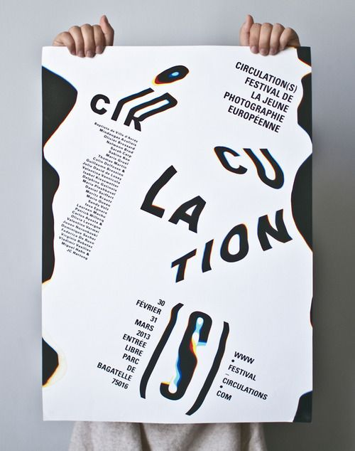 typeonly:  Circulations, poster submitted and designed by...