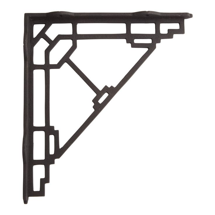Mission Style Cast Iron Shelf Bracket Black Powder Coat