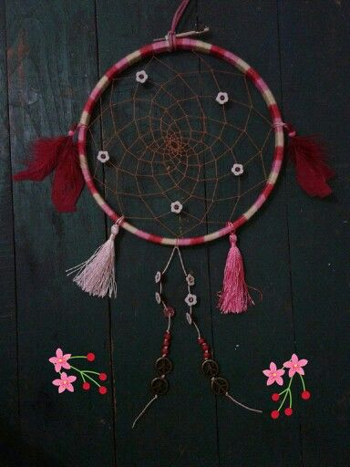 Etnic dreamcatcher. I'd to try added a tassel. Not too bad