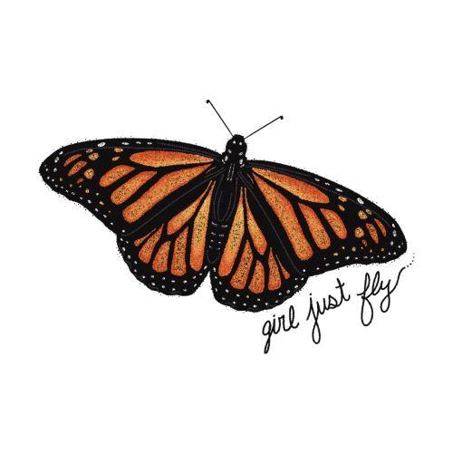 Girl Just Fly - Monarch Butterfly in 2020   Monarch ...