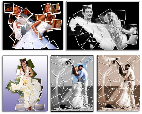 Wedding Photo Collages. Anniversary Gift Idea For Wife And Husband