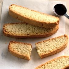 American-Style Vanilla Biscotti: King Arthur Flour. Made closer to 20 for me, instead of 30-40. Delicious.