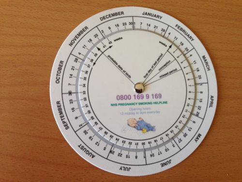 Obstetric Wheel - Pregnancy Calculator EDD - Student Midwife Midwifery - New | eBay