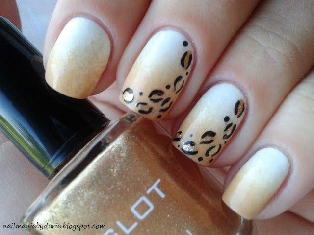 Leopard nails. Unhas de Oncinha. Nail art. Nail design. Polishes. Polish. By nailmaniabydaria