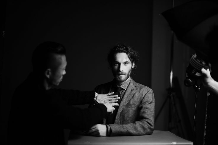 A glimpse behind-the-scenes of the Men's Fay Spring - Summer 2015 campaign photoshoot.