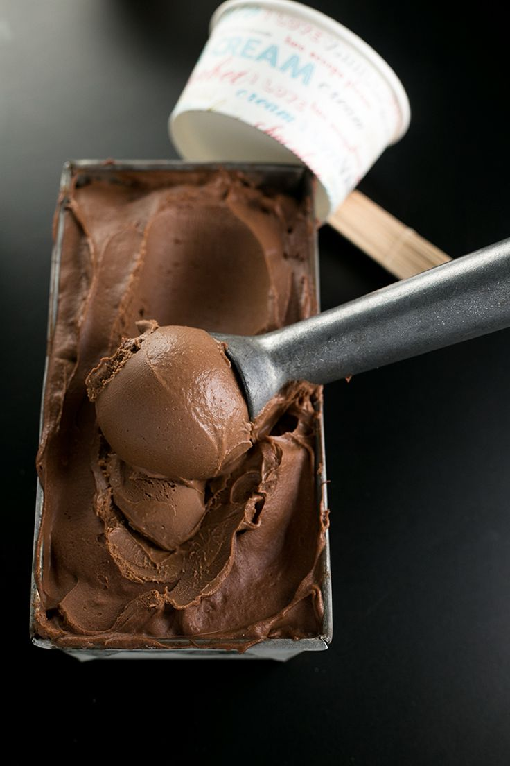 Creamiest Vegan Chocolate Ice Cream - homemade, ultra creamy and scoopable chocolate ice cream made with cashews and coconut milk. Vegan and Gluten Free.