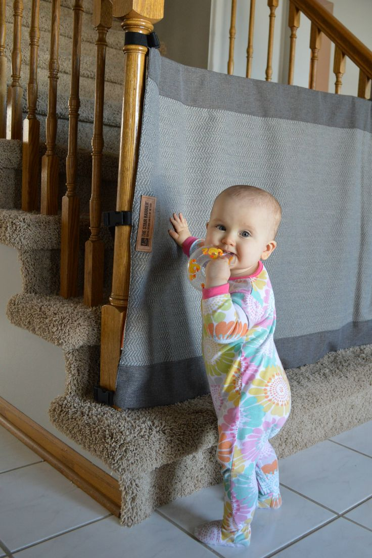 The Stair Barrier is an innovative alternative to the traditional baby gate. It's a stylish fabric safety gate that rolls away neatly when it's not in use.