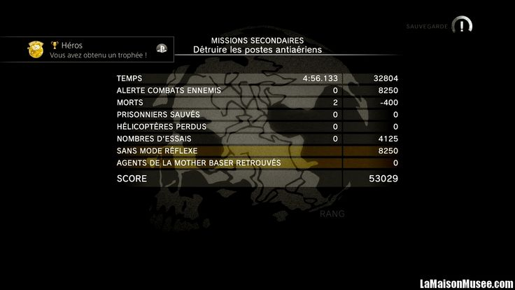 Rang S Missions Ground Zeroes Classement  http://lamaisonmusee.com/