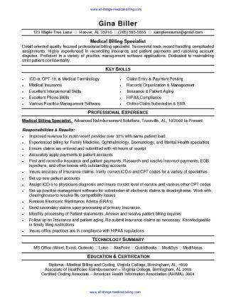 Medical Billing Resume Sample - SharePDF.net
