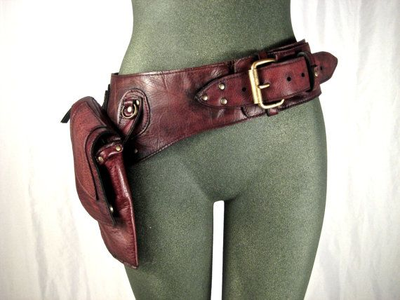 leather hip bag, thigh bag, burning man, tank girl, mad max, utility belt, holster belt, festival belt : Renegade Icon designs