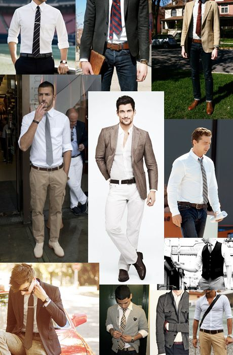 white shirt combination