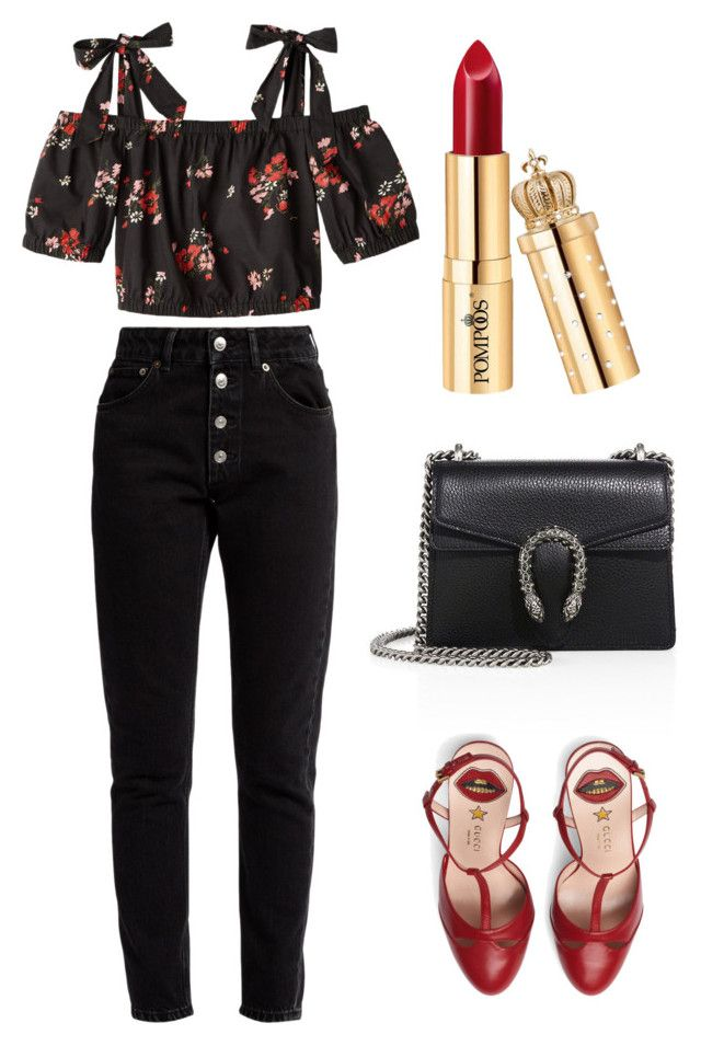 """Untitled #365"" by new-style-to-try on Polyvore featuring Rebecca Taylor, Gucci and Balenciaga"