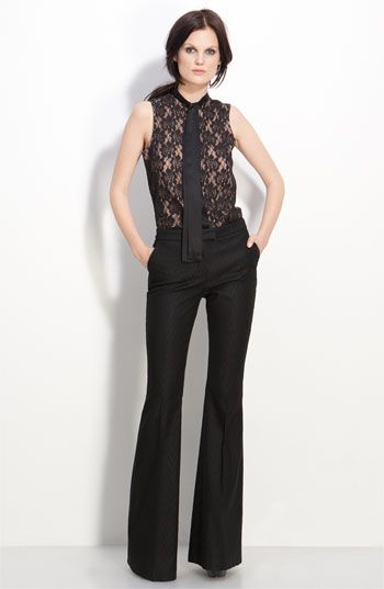 I want this entire outfit!!: Office, Blouses, Rachel Zoe, Neck Sleeveless, Style, Ties, Neck Tie Blouse, Sleeveless Blouse