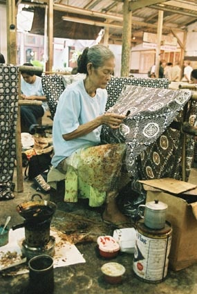 Working with textiles in Bali