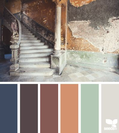 Love these colors. Blue accent for bedroom. Pale green kitchen accent wall? Bath? and that Mink-ish grey! Love.