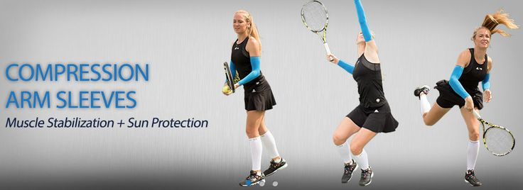 Tennis | Compression Arm Sleeves | Sun Protection | Free Movement | Elbow Tendonitis