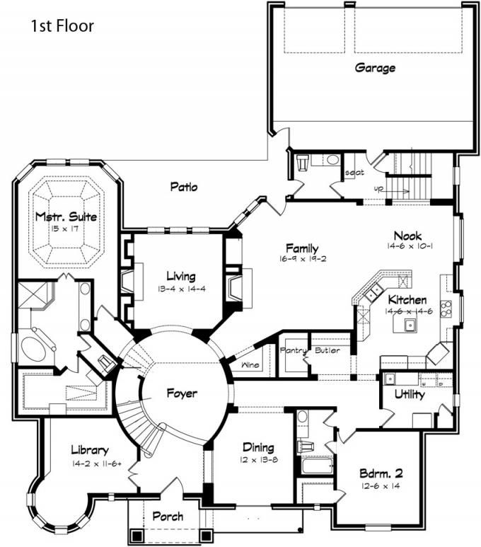 Old world floor plans for Old world home plans