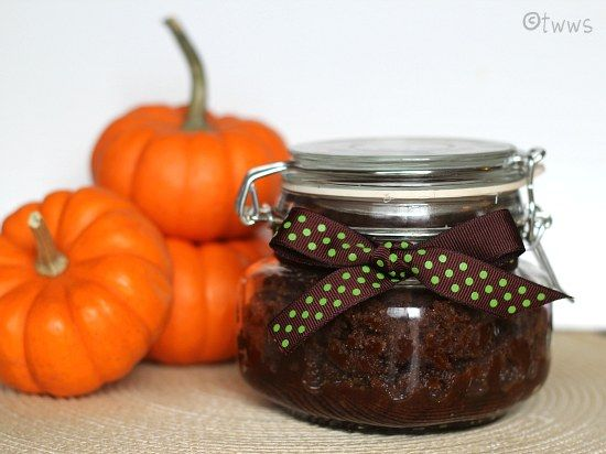 Invited to a fall party? Favor the hostess with Pumpkin Spice Sugar Scrub (via That's What We Said)