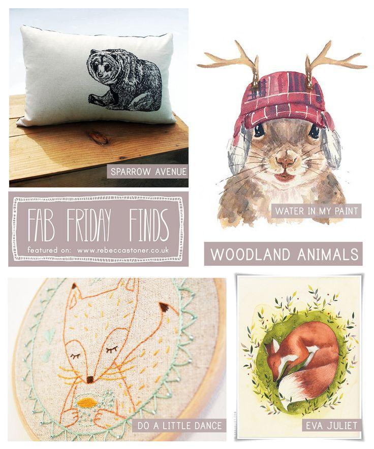 Fab Friday Finds - Woodland Animals - on Rebecca Stoner www.rebeccastoner.co.uk