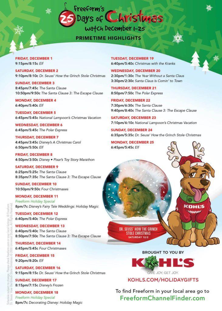 Abc Family 25 Days Of Christmas.Abc 25 Days Of Christmas 2019 Christmas 2019