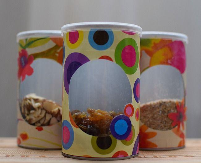 De potes de papas pringles a prácticos y lindos contenedores para la cocina y otros usos.