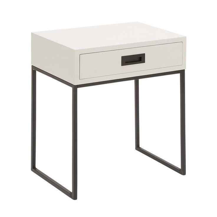 This Wood And Metal End Table Is A Modern Reflection Wood And Metal End  Table,