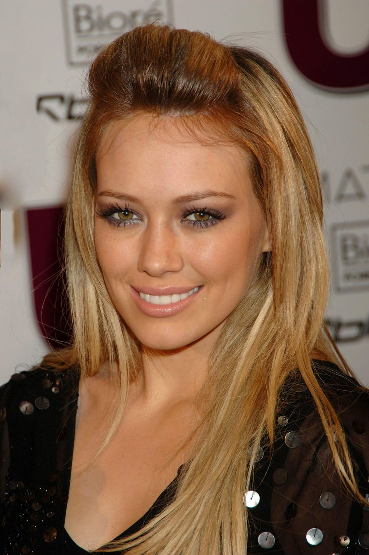 grey, silver eyes makeup hilary duff