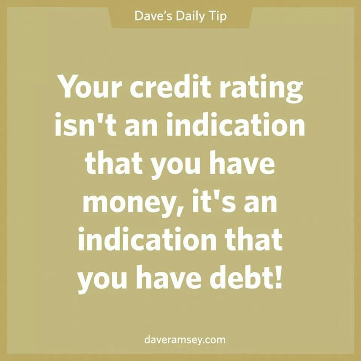 Dave Ramsey credit rating - We're working toward a ZERO credit score!