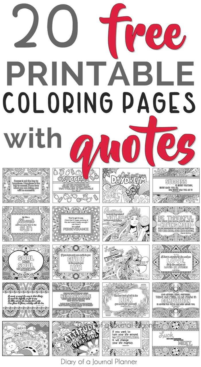 Printable Quote Coloring Pages 5 Free Coloring Quotes Quote Coloring Pages Coloring Pages Inspirational Inspirational Quotes Coloring